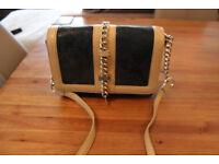BIBA Green snake leather shoulder handbag