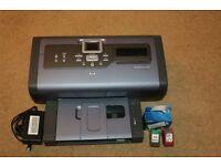 HP Photosmart 7762 printer plus 1 new black and 2 used black 1 used colour 1used photo ink