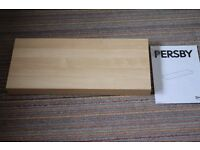 Brand new & unused Ikea Floating shelf ('Persby') in birch finish, 59cm wide