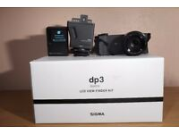 Sigma DP3 Quattro Digital Camera + LCD Viewfinder Kit - Like New Condition