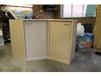 Matching corner cupboard and additional side cupboard