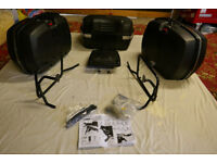 2 E36 and 1 E45 Monokey Traffic hard luggage together with all mounts for BMW R1150GS motorcycle