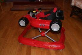 Babylo Red Racing car baby walker
