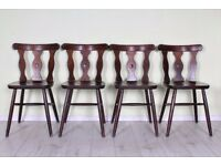 DELIVERY OPTIONS - 4 X MID CENTURY STYLE CHAIRS VERY STURDY SOLID NO WOBBLES