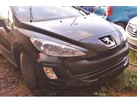 Peugeot 308, black colour, 5 doors, 2010 year, Breaking and selling for parts for sale ...