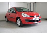 2009 Renault Clio 1.2 16v Extreme 3dr In Red - New MOT, Great Value Hatch