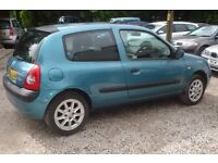 Renault Clio Dynamique 1149 cc petrol, 16v 2003-03-plate, 99, 000 miles, new MOT upon purchase