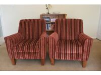 2 Lovely Lounge Chairs in excellent condition £100