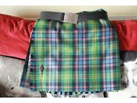 "Beautiful Mens Traditional Kilt in Watson Tartan Size 38 /42"""