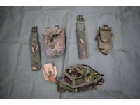 Small Joblot of GRADE2 British Army Issue DPM Webbing (holster/bayonet frog/pouch)