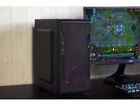 Gaming Computer Pink LED PC Computer Intel Quad Core Nvidia GTX Graphics Win 10 Home