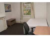 Extra large double room in clean flat share