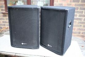 "Smartsound passive PA speakers, Pair, 400 Watts RMS each, 12"" ; 8 Ohms, Eminence drivers"