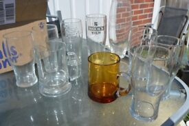 10 BEER GLASSES