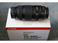 Canon EF 70-300mm f/4-5.6 IS USM Lens.