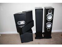Monitor Audio Silver RS6 AV 5.1 Speaker System in Black Oak