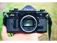 Canon A-1 (1985) 35mm SLR Film Camera with Lens