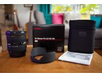 Sigma 10-20mm F/4.0-5.6 HSM DC EX Lens For Canon - Excellent Condition