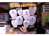 Full Box of chinese lanterns ideal for wedding Light up your night sky with Words of Good Luck etc: