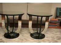 2 Mirrored Art Deco tables