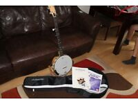 Countryman Californian Banjo with Shubb capos & Gotoh tuners Upgraded
