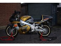 GSX-R 750 1996 in rarer Gold/Brown, a clean example