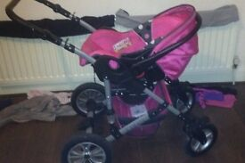 Baby girls buggy for sale