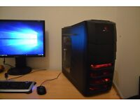 Gaming PC - i3 4130 - 8GB DDR3 - R9 270 OC- 128GB SSD - 1TB HDD - WIFI - BUILT 23/07/16 + GAMES