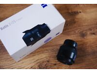 Zeiss Batis 25mm f/2 distagon lens for Sony E-mount 2/25 - immaculate