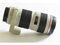 Canon EF 70-200 F4 L USM Telephoto Zoom Lens 70-200mm F/4 With Tripod Collar REDUCED TO £375