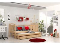 New Single + Pull - out Bed JUNIOR For Kids - 184x80cm + Free Mattresses and delivery