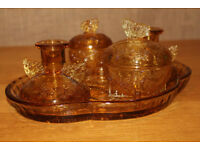 Vintage Glass tableware set