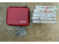 Nintendo DS2 with case and 6 games