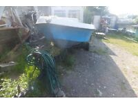 15ft open boat on road /launching trailer