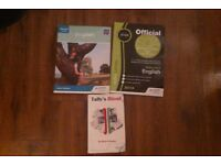SQA English books for National 5, plus Tally's Blood book