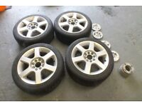 "15"" WOLFRACE VOODOO ALLOY WHEELS WITH VERY GOOD TYRES"