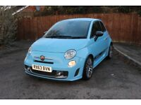 Abarth 595 Turismo 160PS Legends Blue 21K miles. Fantastic condition.