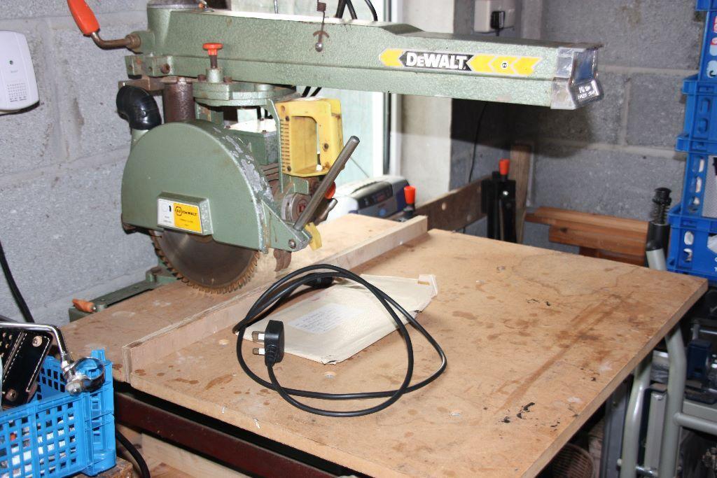 Dewalt Dw100 Power Shop Radial Arm Saw 163 185 Dado Head Set