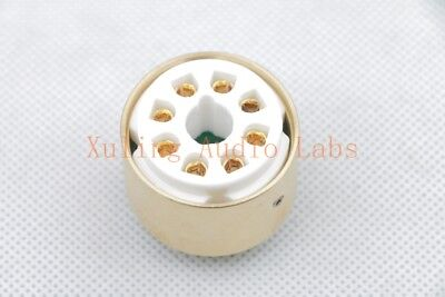 10pc Gold plated WE420A CK5755 TO 12AX7 ECC83 tube converter adapter