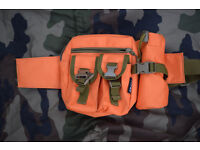 ORANGE Waist Bag, Hiking Pack (as new) .... ideal for hiking, holidays, metal detecting etc