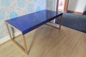 coffee table, metal top with solid oak legs,Habitat
