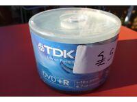 50 Blank DVD+R TDK Brand (New)