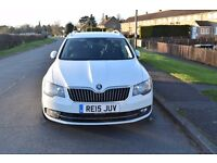 SKODA SUPERB, FIRST REG 04.2015, FSH, LAST SERVICE @ 81500, SAT NAV, DAB RADIO, HALF LEATHER