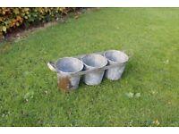 vintage retro florists buckets