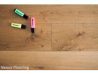 Engineered brushed and oil oak flooring