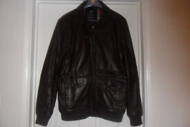 Genuine Brown Leather Jacket Size Small
