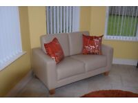 Seatee, Pair of matching 2 seater seatees, Cream, 55.5in x 29in.