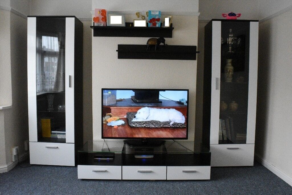 Modern Living Room Display Unit modern living room set cupboard stand gloss tv unit cabinet