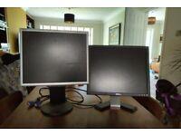 "2 x 17"" computer monitors. Ridiculous price."