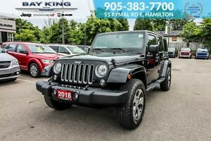 2018 Jeep Wrangler UNLIMITED SAHARA, GPS NAV, REMOTE START, SIDE